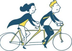 Tandem Cykling Ikon